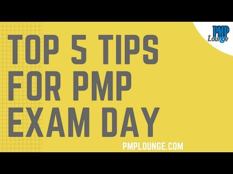 Top 5 Tips for PMP Exam Day   PMP Exam Tips - YouTube