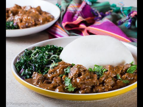 Beef Stew with Ugali & Greens