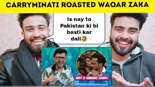 Pakistani Reacting On Not A Daring Show Ft Waqar Zaka Carryminati By | Pakistani Bros |