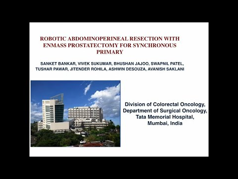 ROBOTIC ABDOMINOPERINEAL RESECTION WITH ENMASS PROSTATECTOMY FOR SYNCHRONOUS PRIMARY