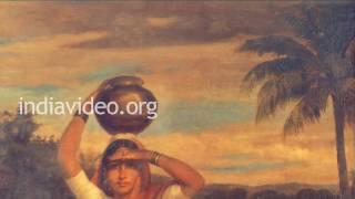 Village Damsel, a painting by Raja Ravi Varma