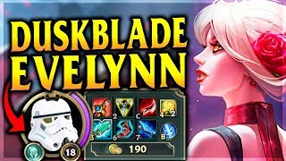 Gambar cover STORMTROOPER DUSKBLADE EVELYNN ONE-SHOTS!? Reworked Tango Evelynn - League of Legends Commentary