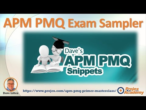 APM PMQ Exam Questions and Answers (2018) - YouTube