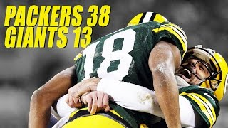 NFL Packers Beat Giants 38-13 Wild Card 2017