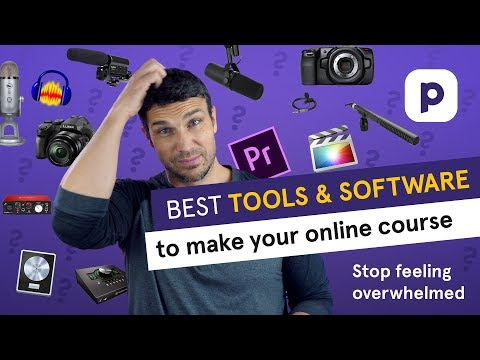 Best TOOLS AND SOFTWARE to make an online course (2021 ...