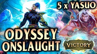 How To Odyssey Onslaught with 5 x Yasuo!! ONLY 3 Augments! - League of Legends S8