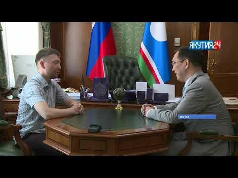 Айсен Николаев встретился с преподавателем, который задал вопрос Владимиру Путину