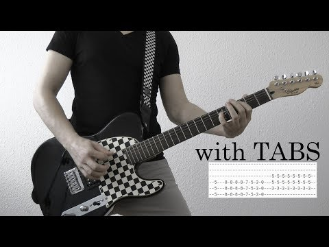 Three Days Grace - One too many Guitar Cover w/Tabs on screen