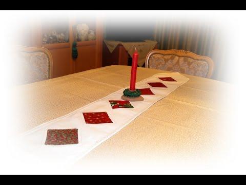 Großmutter Käthes Nähstunde  : Weihnachtliche Tischdeko Tischband mit  Applikationen