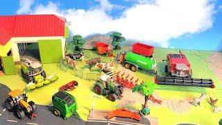 Trecker, Maisdrescher & Traktor - viele Bauernhof Fahrzeuge - Bauernhof - Farm Vehicles for Kids
