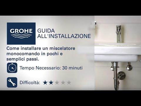 Come installare un miscelatore monocomando Grohe per il bagno