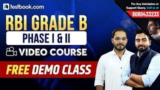 Free Demo Class for RBI Grade B 2019 Exam | Online Course for RBI Grade B Phase 1 & Phase 2