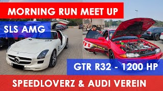 Carvlog New Normal Morning Run Speedloverz & Audi Verein – SLS AMG – GTR R32 RRR Engine Block
