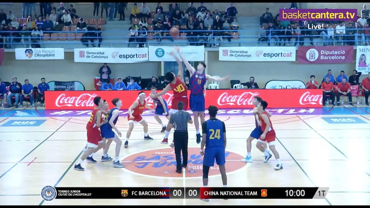 Live - U18M - FC BARCELONA vs CHINA NATIONAL TEAM.- Torneo Junior L´Hospitalet 2020