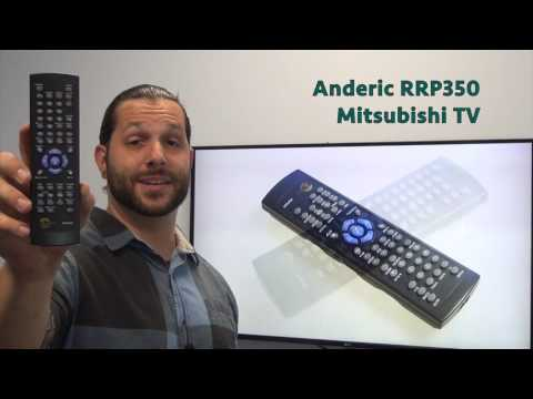 ANDERIC RRP350 Mitsubishi TV Remote Control