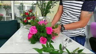The basic flower arrangement for begginer