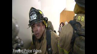 POV: Firefighters Descend Flight of Stairs in Full Bunker Gear on 9/11