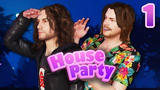 We are literally IN THIS GAME!!! - House Party: PART 1