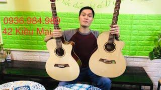 2 cây đàn guitar giá rẻ. isaac01 và isaac02 FullSolid gỗ tự nhiên nguyên tấm. 1,2 triệu và 1,6 triệu