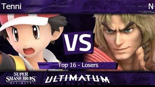 Ultimatum  - Tenni (PT) vs HMO | N (Ken) Top 16 - Losers - SSBU