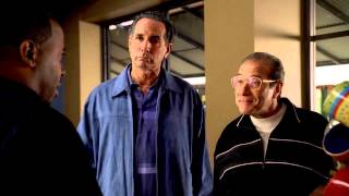 "The Sopranos - Patsy and Burt failed extortion attempt at ""Starbucks"""