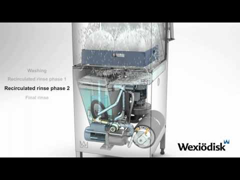 Wexiödisk WD-6 DUPLUS - Passthrough Dishwasher