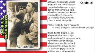 "Video thumbnail of ""Andrius Mamontovas - O, Meile!"""
