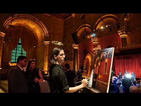 A glimpse of a live event painting I did at Cipriani 42nd Street in New York City!