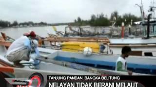Cuaca Buruk Kepulauan Bangka Belitung Nelayan Enggan Melaut  INews Siang 15/02