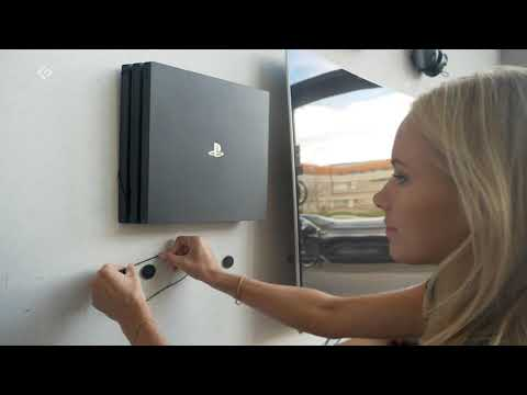 Display or hide PlayStation 4 Pro (PS4 Pro) on the wall in the Wall Mounts by FLOATING GRIP®