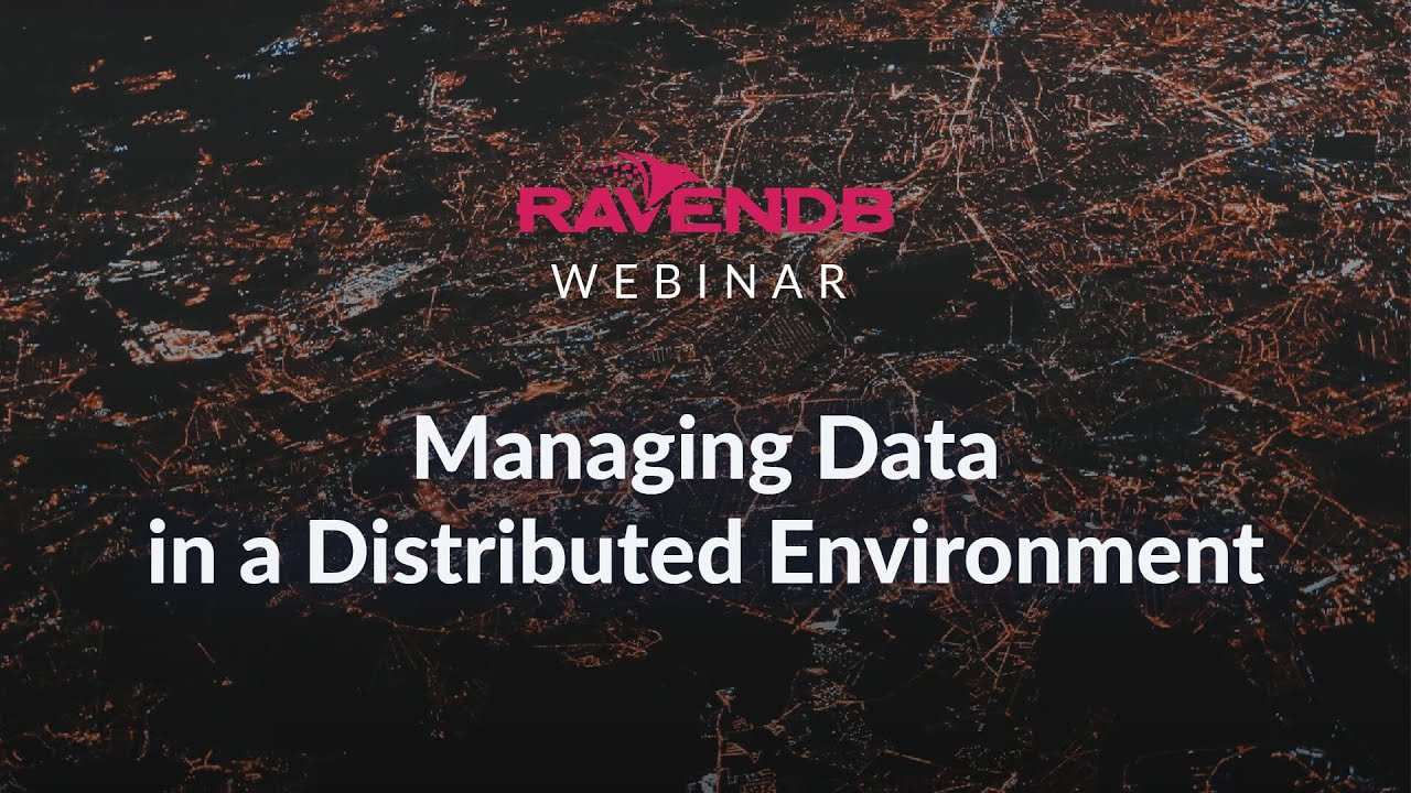 Managing Data in a Distributed Environment