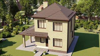 Проект дома 128-B, Площадь дома: 128 м2, Размер дома:  12,7x10,4 м