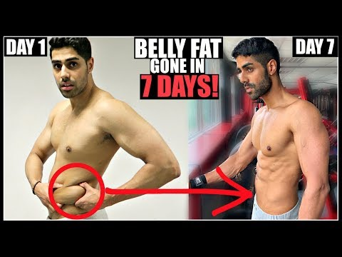 How To Lose Stubborn Belly Fat In 1 Week - THIS REALLY WORKS!