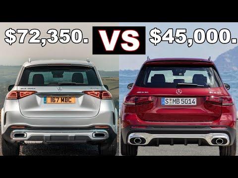 Mercedes GLB vs Mercedes GLE (2021) $45,000 vs $72,350. AMG GLB 35 vs AMG GLE 53. (Review)