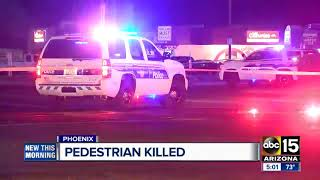 Pedestrian possibly killed in Phoenix crash