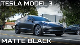 Tesla Model 3 - Wrapped Turned To Matte Black