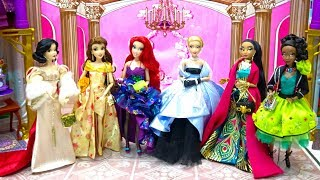 Royal Dance Party Disney Princess Dolls Ariel Belle Cinderella Jasmine Snow White Tiana DressUp