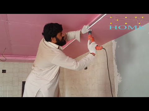 gypsum board ceiling installation india gypsum board ceiling || DIY GYPSUM & GYPSUM BOARD