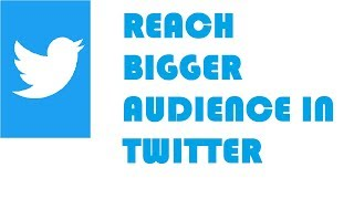 Reach a bigger audience in twitter