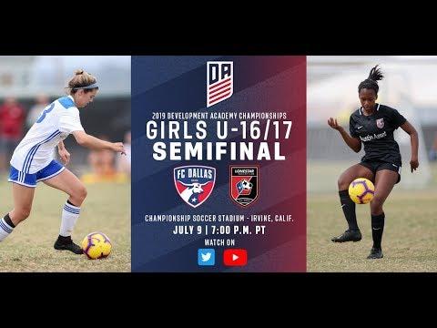 2019 Development Academy Finals: U16/17 Girls Semifinal - FC Dallas vs. Lonestar SC
