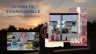 Fly to Sihanoukville Cambodia from Phnom Penh travel resort casino sunset vlog Co-OMG