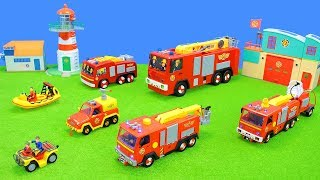 Fireman Sam Toys | Fire Engine, Helicopter & Firefighter Jupiter Trucks Unboxing for Kids