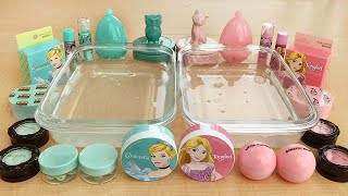 Mint vs Pink - Mixing Makeup Eyeshadow Into Slime! Special Series Part 13 Satisfying Slime Video