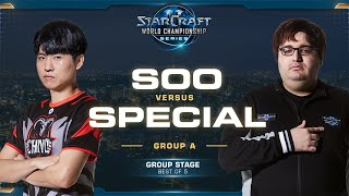 soO vs SpeCial ZvT - Group A - 2019 WCS Global Finals - StarCraft II