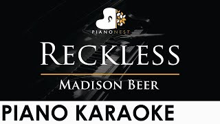 Madison Beer - Reckless - Piano Karaoke Instrumental Cover with Lyrics