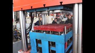 BMC manhole cover heat forming hydraulic press machine youtube video