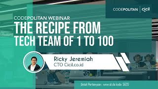 Codepolitan Webinar x Cicil.co.id : Tips Membentuk Tim Development Terbaik