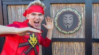 GAME MASTER NINJA TRAINING CHALLENGE at TOP SECRET LEGO NINJAGO LOCATION!! (Mystery Clues Found)