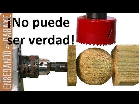 Cómo hacer bolas de madera fácil