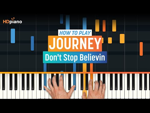 "How To Play ""Don't Stop Believing"" By Journey With Synthesia & HDpiano - Piano Tutorial - HDpiano"